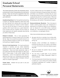 Examples Of Personal Statements For Grad School Best Template