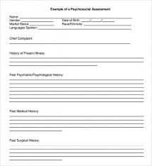 Psychosocial Assessment Template Enchanting Get 44 Sample Psychosocial Assessments Pdf Doc Top Template