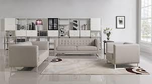 fabric sofa set. Divani Casa Dominic Mid-Century Grey Fabric Sofa Set L