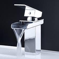 Kokols 81H39CHR Vessel Waterfall Bathroom Sink Basin Faucets Mixer ...