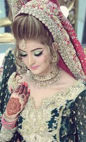 kashees bridal hairstyle fashion make up beauty parlour fashion