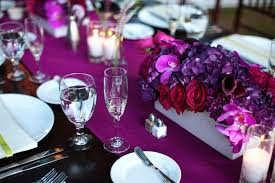 beautiful purple wedding centerpieces decor romantic purple red fuschia  wedding flower centerpieces california wedding 2