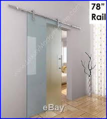 sliding barn door hardware gl 7 5 feet 78 inches 2m modern stainless steel