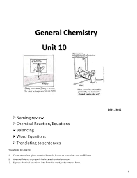 balancing chemical equations pdf unit 10 solon city schools