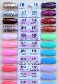 Nail Color Chart Daisy Gel Nail Polish Swatches
