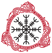 Aegishjalmr Helm Of Awe And Terror Meaning Aegishjalmur Norse Viking