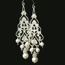 medium size of pearler bridal earrings silver filigree dangly delightful vintage teardrop crystals murano for antique