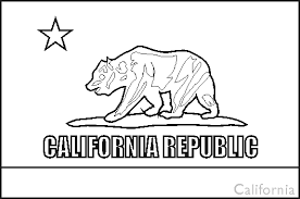 Small Picture California State Flag Coloring Pages USA for Kids