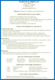 Warehouse Objective Resume Best Of Resume Examples Warehouse Position Good Objective For Resumes Wareh