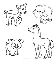Printable Animal Coloring Pages For Toddlers Coloring Book Fun