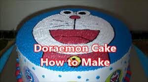 Doraemon Cake How To Make Youtube