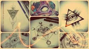 эскизы тату глаз в треугольнике рисунки татуровки фото значение