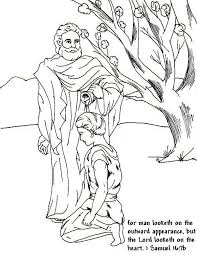 Small Picture Samuel Anointed David as a King in the Story of King Saul Coloring