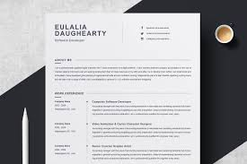 Clean Resume Template Resume Templates Creative Market