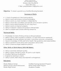 Free Cna Resume Templates Custom Resume Summary For Certified Nursing Assistant Awesome Cna Resume