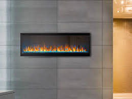 napoleon 50 alluravision slim wall mount electric fireplace nefl50chs napoleon