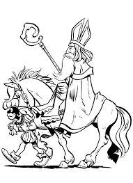 Sinterklaas Kleurplaat Amerigo Sankt Nikolaus Malvorlagen