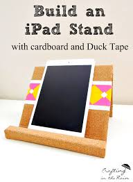 i built mine using cardboard and duck tape and it s just the right size for holding my ipad mini if you have something larger you may want to increase