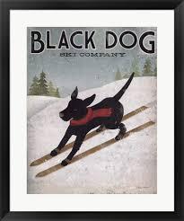 Black Dog Design Company Amazon Com Black Dog Ski By Ryan Fowler Framed Art Print
