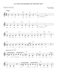 all i want for christmas is my two front teeth sheet music the easy christmas fake book sheet music by no composer hal