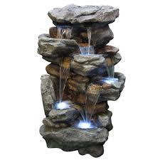 garden fountains home depot. Modren Fountains Rainforest Waterfall Fountain Inside Garden Fountains Home Depot