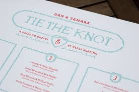 Nautical Tie The Knot Table Chart Dare2dream Seating