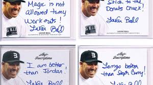 Lavar Ball Quotes Stunning Lavar Ball Signs Autograph Deal Selling Trading Cards With His