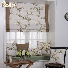 fabric roman blinds. Unique Blinds Natural Pastoral Style Cotton Fabric Roman Blinds Roller Shutter Window  Shade Customized Curtains For Living Room Intended G