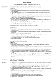 Senior Program Coordinator Resume Samples Velvet Jobs