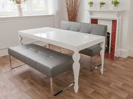 White Dining Room Benches