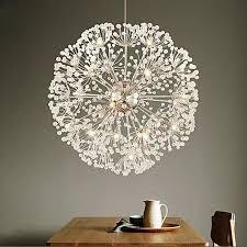 generic crystal dandelion chandelier remote control lighting pendant lamp silver grey