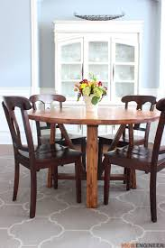 Round Kitchen Table Plans Round Trestle Dining Table Free Diy Plans Rogue Engineer