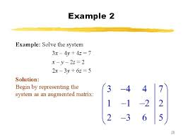 of linear equations matrices section
