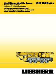 Liebherr Ltm 1090 4 1 Specifications Cranemarket