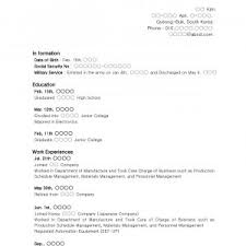 Sample Resume Format For High School Graduate With No Experience New ...