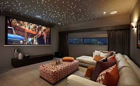 media room seating furniture. Basement Media Room With Starry Ceiling Seating Furniture