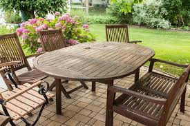 teak wood garden furniture oval table 1024x682
