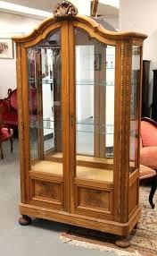 wood curio cabinet with glass doors banyan wood curio cabinet with beveled glass doors sold small