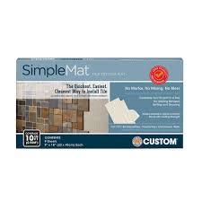 custom building s simplemat 10 sq ft tile setting mat