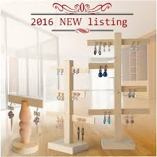 Wooden Jewelry Display Stands Custom Online Cheap Wood Necklace Display Holder For Store Wood Jewelry