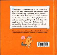 james marshall the three little pigs 1989 back cover as mangled