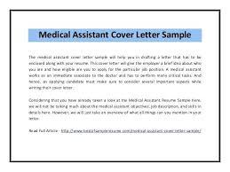 Sample Medical Resume Cover Letter Medical Assistant Cover Letter Medical Assistant Resume Cover Letter