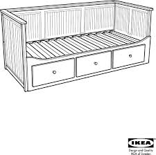 Download IKEA HEMNES DAY BED W 3 DRAWERS Assembly Instruction for