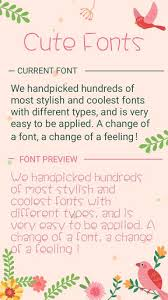 Cute Fonts For Android Cute Font For Flipfont Cool Fonts Text Free 37 0 Apk