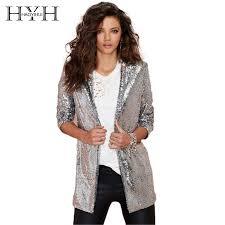 <b>HYH HAOYIHUI</b> Women <b>Autumn</b> Blazer Pockets Casual Long ...