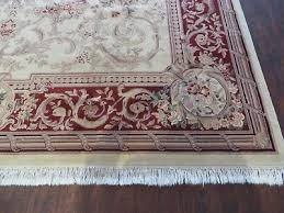 8 of 12 10 x 14 vintage chinese hand made wool rug aubusson savonnerie design nice