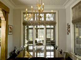image of french country chandelier dining room