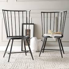 homesullivan walker wood and metal high back dining chair in black set of 2 40550c bk3a2pc the