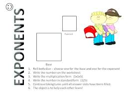 easy exponents worksheets