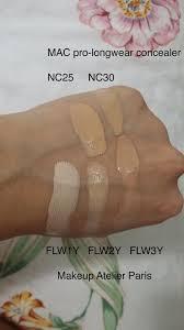 mac pro longwear concealer nc25 and nc30 makeup atelier paris liquid waterproof foundation